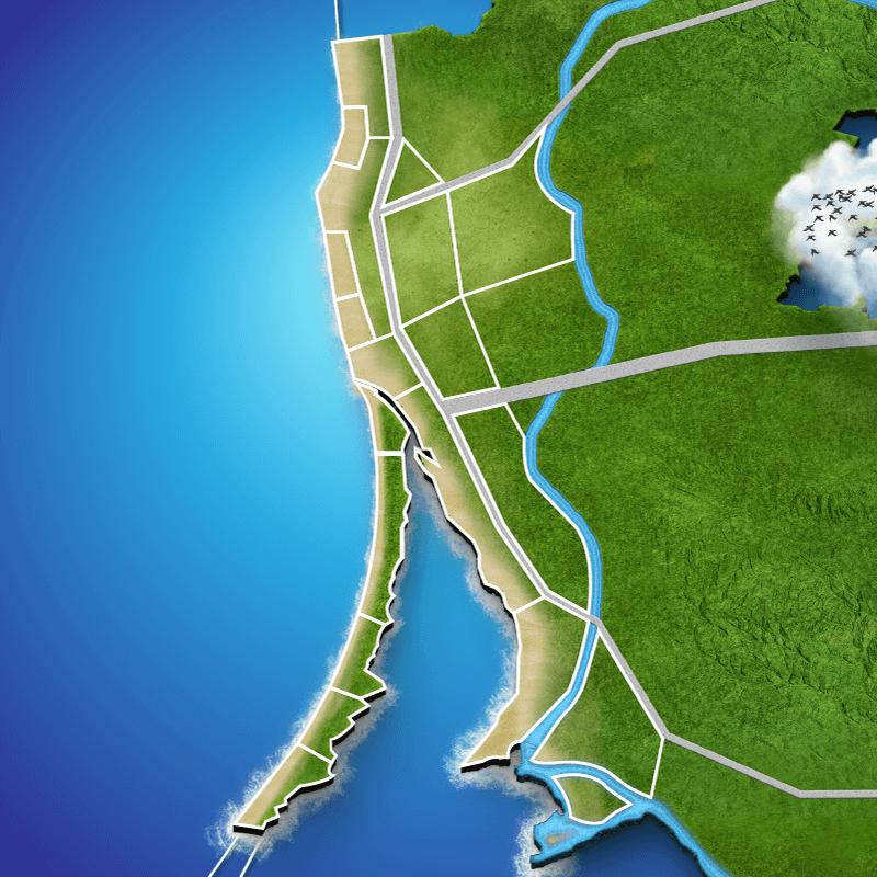 Litewski nadmorska mapa pogody