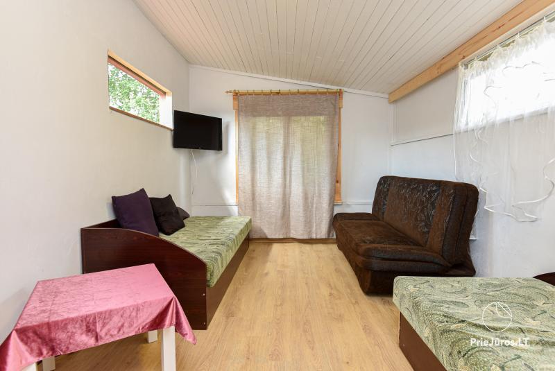 Wakacje w Połądze - drewniane domki, pole namiotowe, namioty (Od 5 € / osoby dla grup)