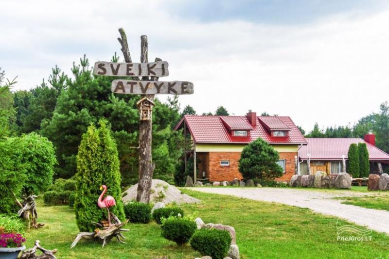 Wille, sauna, hala wynajem 10 km od Kłajpedy, w pobliżu minizoo, Jonušas