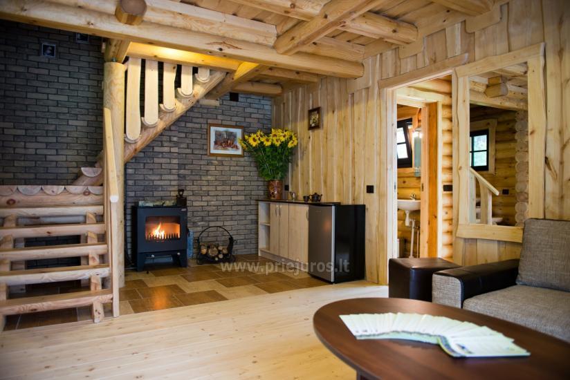 Wille drewniane do wynajęcia w Połądze - Atostogu parkas - 5
