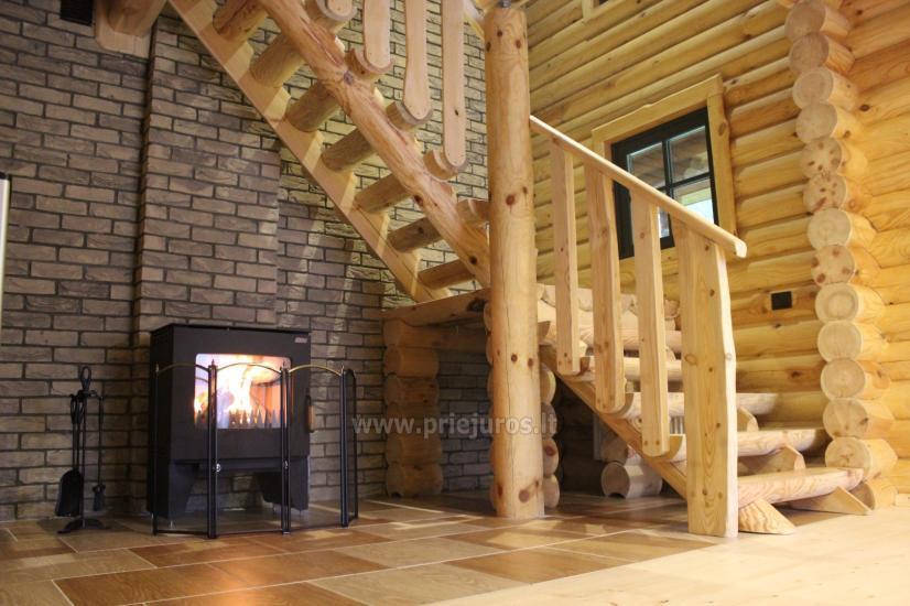Wille drewniane do wynajęcia w Połądze - Atostogu parkas - 6