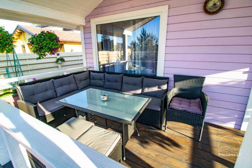 Nowe domy wakacyjne ze wszystkimi udogodnieniami do wynajęcia w Sventoji. Miejsce odpoczynku Svyturys - 8
