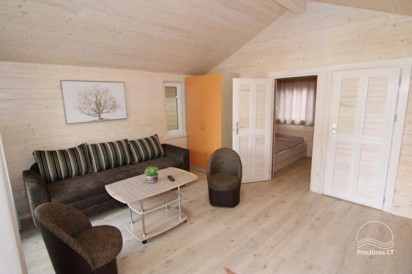 Nowe domy wakacyjne ze wszystkimi udogodnieniami do wynajęcia w Sventoji. Miejsce odpoczynku Svyturys - 11