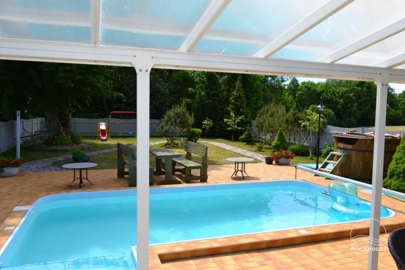Dom z basenem do wynajęcia w Karkle VILLA ZAREMBA - 200 m do plaży nad morzem! - 6