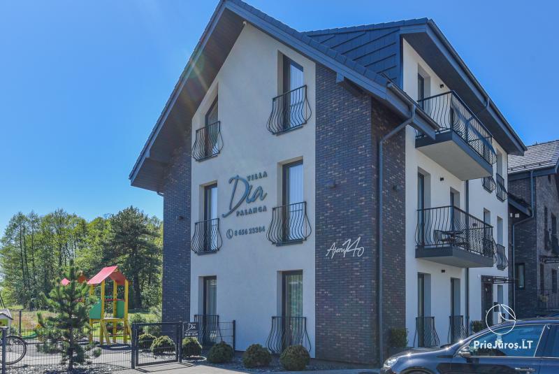 Willa DIA - Mieszkania do wynajęcia w Połądze, obok sosnowego lasua