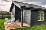 Szary dom wakacyjny | Domy wakacyjne do wynajęcia w Sventoji