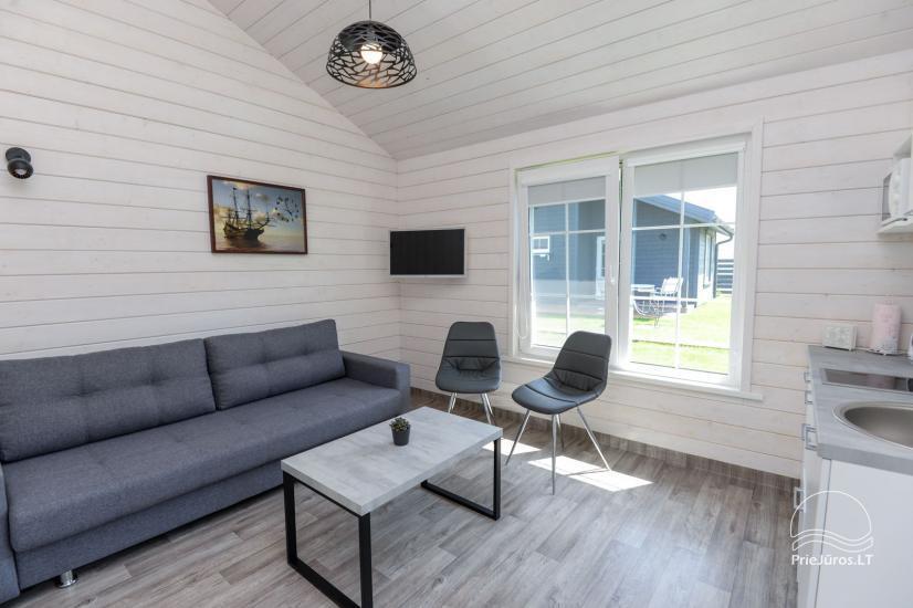 Szary dom wakacyjny | Domy wakacyjne do wynajęcia w Sventoji - 1