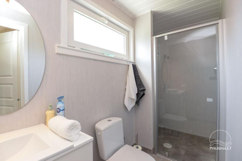 Szary dom wakacyjny | Domy wakacyjne do wynajęcia w Sventoji - 3