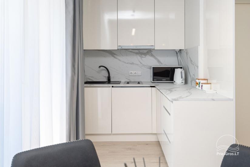 Przytulnie urządzone mieszkanie do wypoczynku w Połądze, w Kunigiskiai - 8