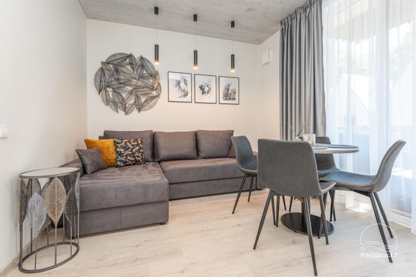 Przytulnie urządzone mieszkanie do wypoczynku w Połądze, w Kunigiskiai - 4