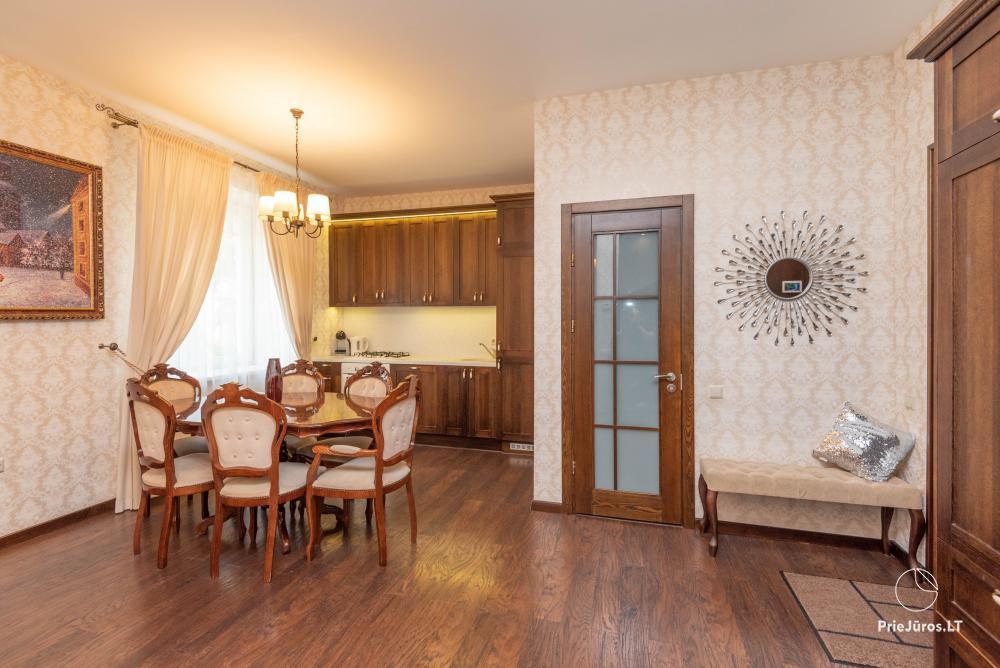Apartamenty Palangos jura w centrum Połągi iw Kunigiskiai. Mini apartamenty Maluno villa do wynajęcia przy ulicy Malūno w Połądze - 1