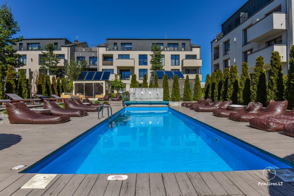 Neringos apartment z prywatnym basenem w Połądze - 1