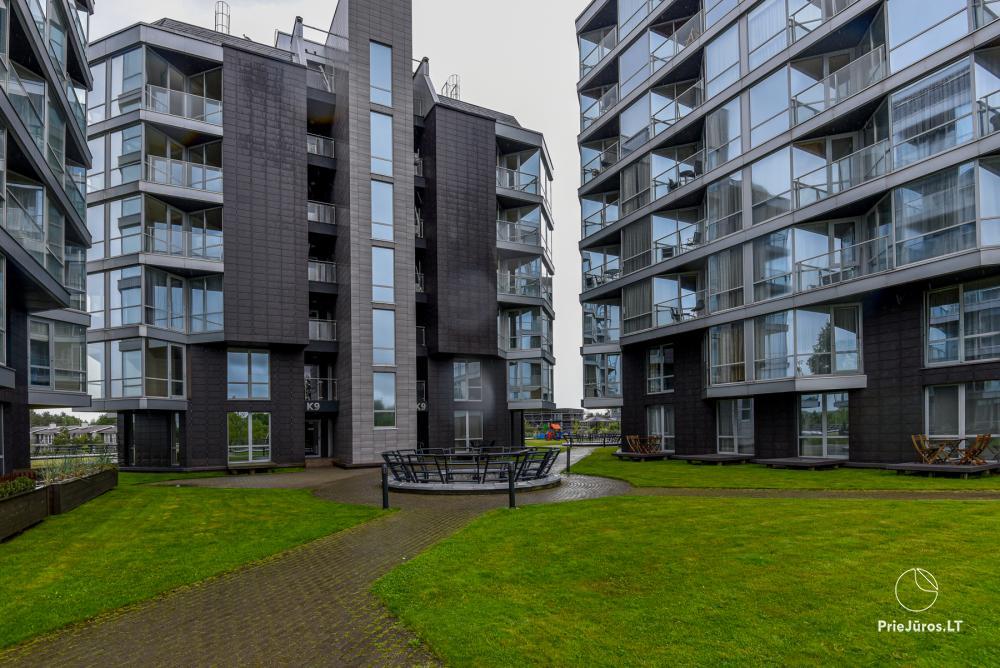 Nowe jednopokojowe mieszkanie z tarasem do wynajęcia w Sventoji - 1