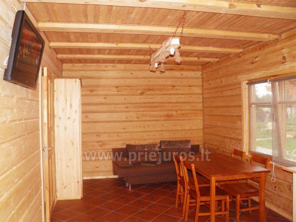 Dwupokojowe mieszkanie i pokoje do wynajęcia w Sventoji w drewnianym domu - 6