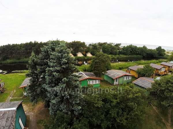 Domy letniskowe z tarasami w Sventoji, nad rzeką - 11