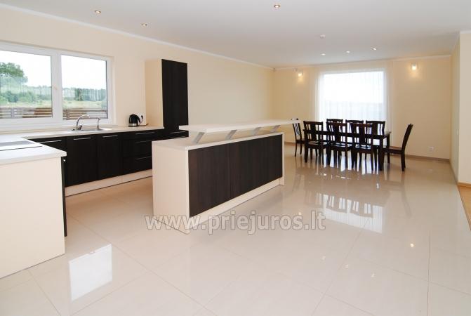 Dom do wynajecia w Sventoji (Palanga): 4 sypialnie, szeroki salon z kuchnia, 3 lazienki - 7