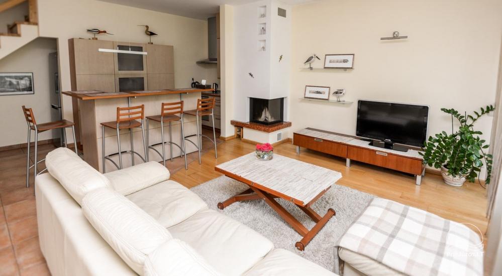 Domek (apartament dla 4-6 osób) z przestronnym dziedzińcem, tarasem w Połądze, przy ulicy Vanagupes. - 5
