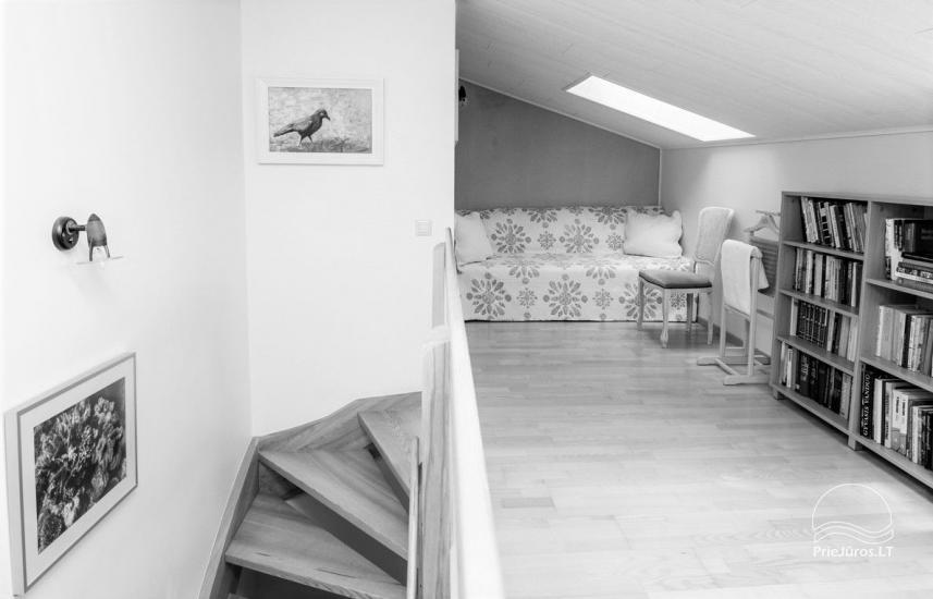 Domek (apartament dla 4-6 osób) z przestronnym dziedzińcem, tarasem w Połądze, przy ulicy Vanagupes. - 14