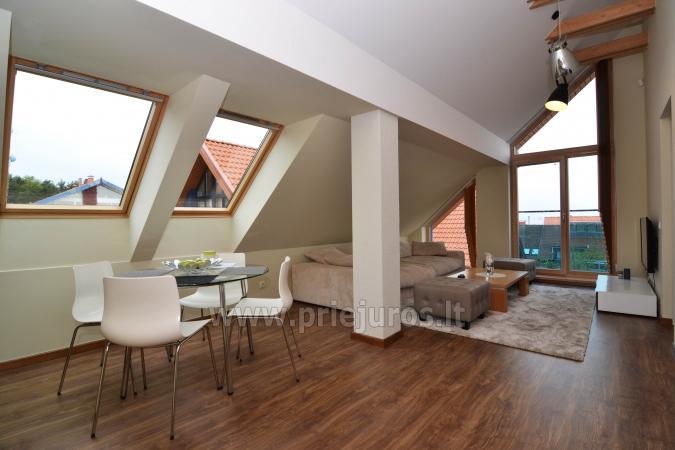 Dobrze wyposażone dwa pokoje apartamenty z widokiem na lagunę w Nidzie - 1