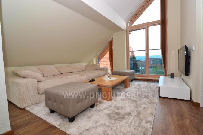Dobrze wyposażone dwa pokoje apartamenty z widokiem na lagunę w Nidzie - 8