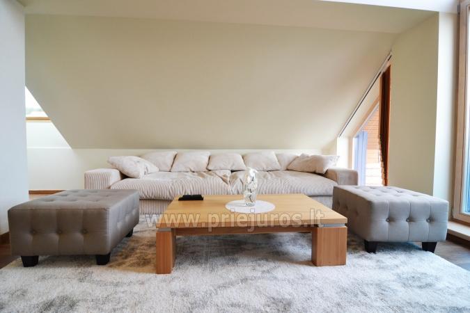 Dobrze wyposażone dwa pokoje apartamenty z widokiem na lagunę w Nidzie - 9