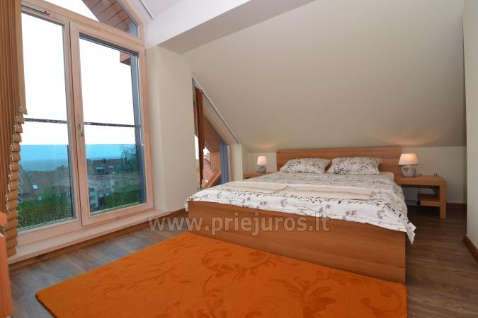 Dobrze wyposażone dwa pokoje apartamenty z widokiem na lagunę w Nidzie - 11