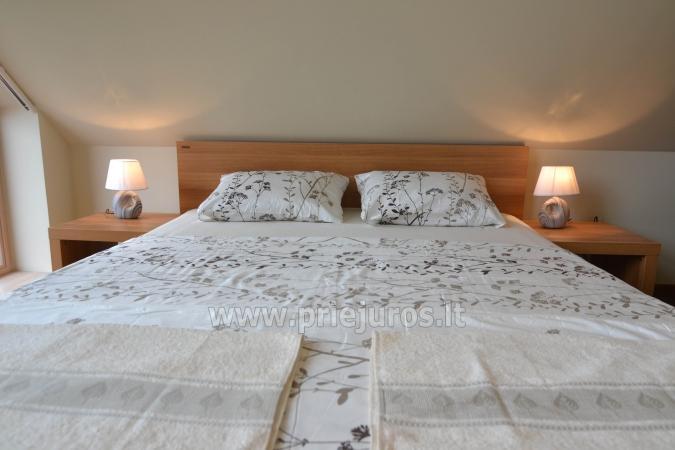 Dobrze wyposażone dwa pokoje apartamenty z widokiem na lagunę w Nidzie - 12