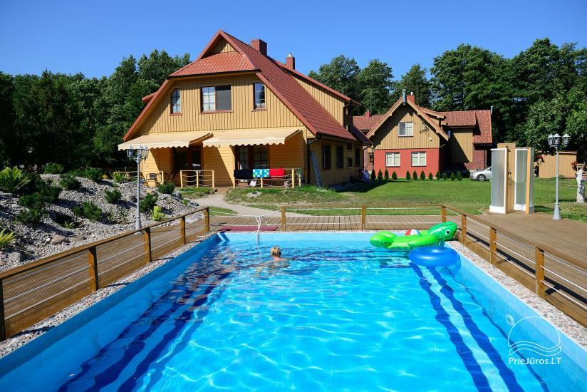 Villa Vanilla - nowocześnie urządzone pokoje ze wszystkimi udogodnieniami do wynajęcia w Karkle. 2 baseny, zaledwie 250 metrów od morza! - 1