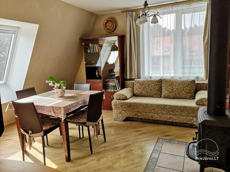 Dwupokojowy apartament z kominkiem Gniazdem II do wynajęcia w Nidzie - 5