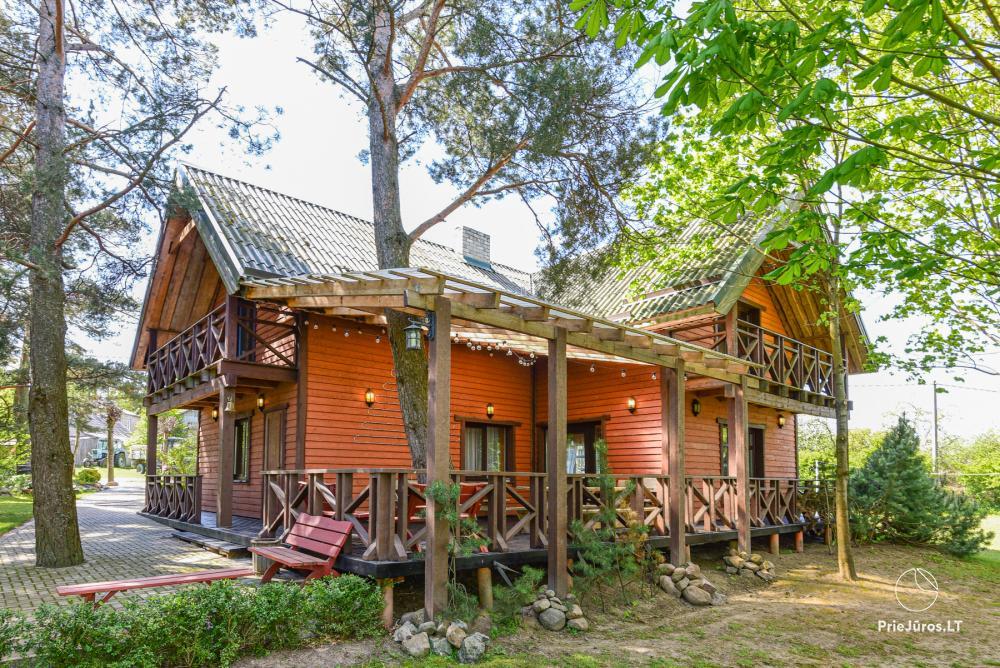 """Gospodarstwo """"Lazdininkų pirtis"""" na święta i wakacje: dom, sala bankietowa, sauna - 1"""