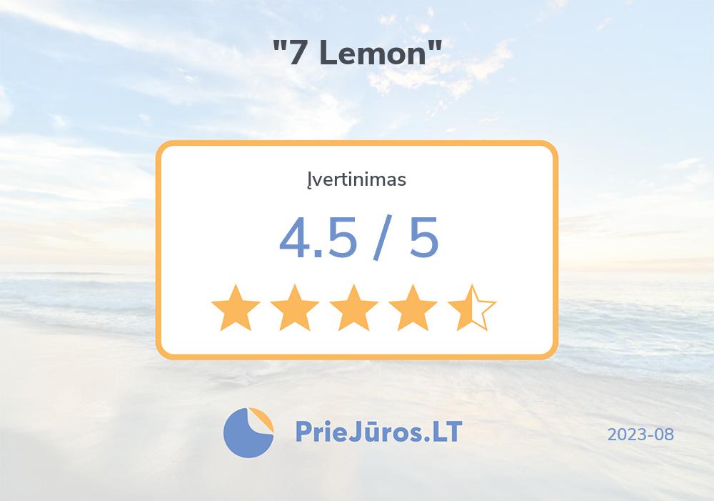 """Opinie wczasowiczów – """"7 Lemon"""""""