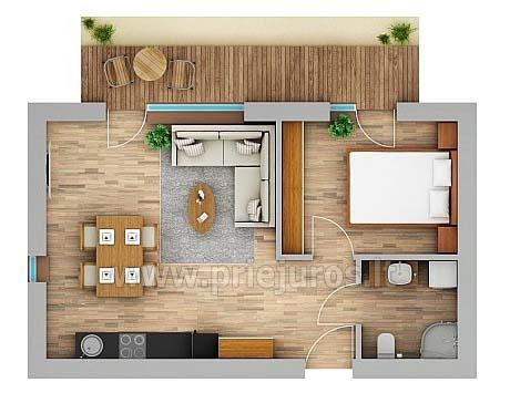 Dwa pokoje apartamenty w Nidzie, Mierzeja Kurońska z tarasem, huśtawki - 16