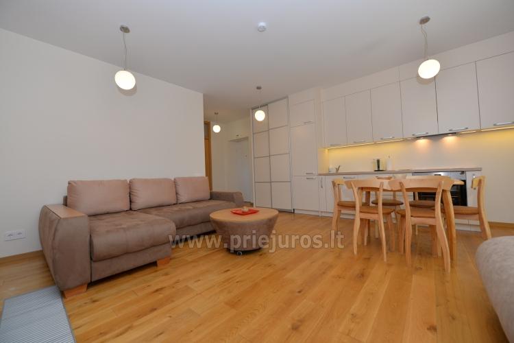 Dwa pokoje apartamenty w Nidzie, Mierzeja Kurońska z tarasem, huśtawki - 6