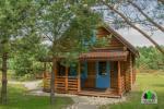 Drewniany dom z sauna dla 6-8 osób Pusu giraite