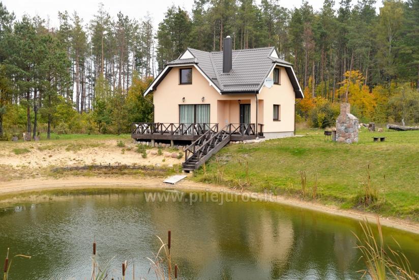 Sauna i zakwaterowanie nad brzegiem stawu w rejonie Kłajpedy - 26
