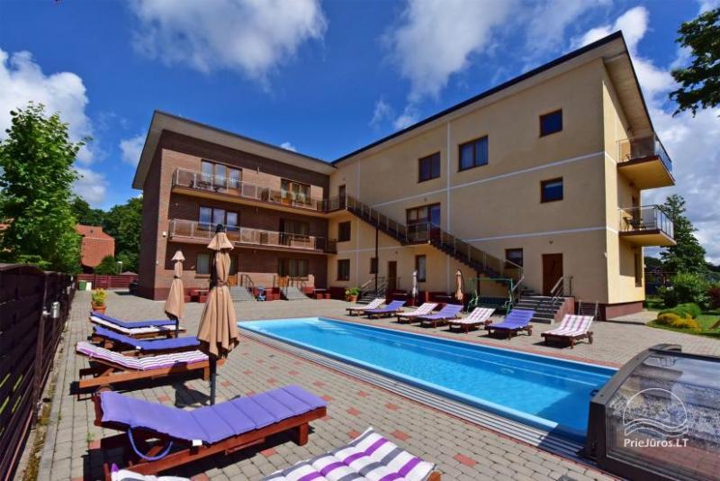 IEVŲ VILA – komfortowe apartamenty i pokoje, szerokie ogrodowe, basen z podgrzewaną wodą