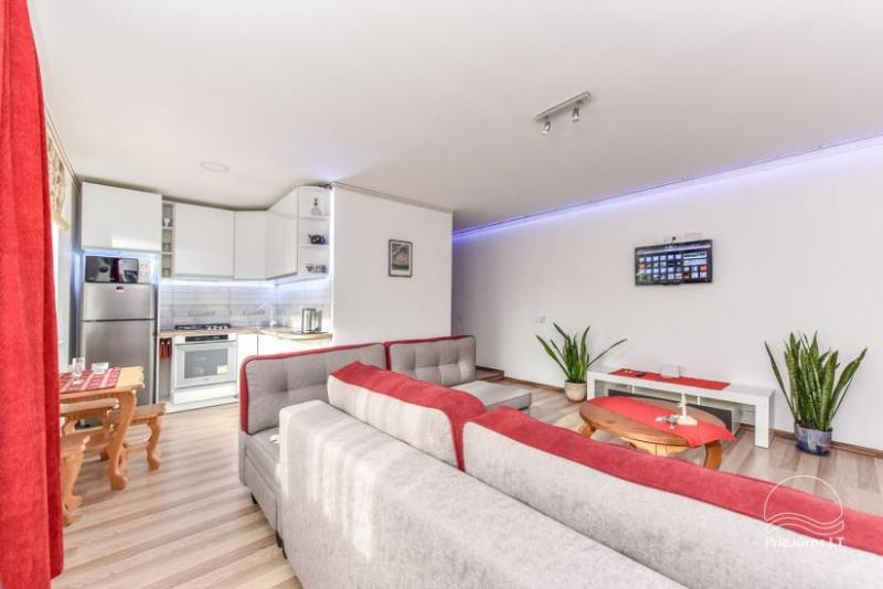 NeriesApartmentai – wygodne samodzielne mieszkania w centrum Połągi niedaleko ulicy J. Basanaviciaus i morze! Cały domek w gospodarstwie