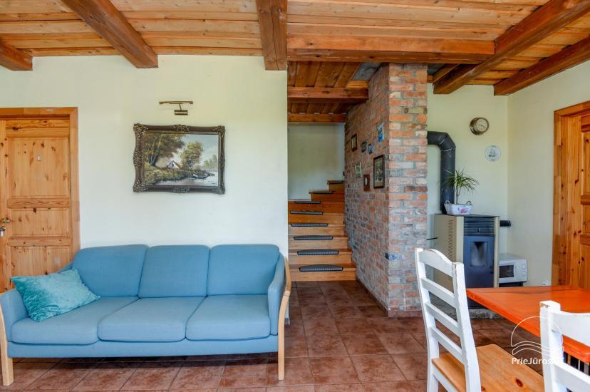 Dom gościnny z restauracją i sauną PAMARIO BURĖ w pobliżu Zalewu Kurońskiego - 13
