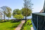 Apartament w Preila na brzegu Mierzei Kurońskiej, balkon z widokiem na lagunę - 9