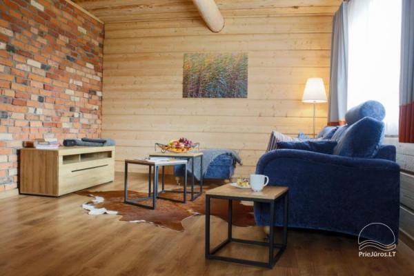 Małe domy wakacyjne do wynajęcia niedaleko od Sventoji (sauna, konie)