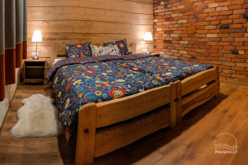 Małe domy wakacyjne do wynajęcia niedaleko od Sventoji (sauna, konie) - 4