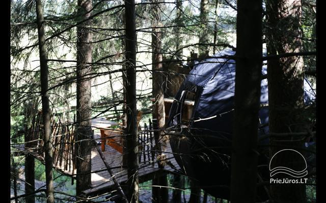 Małe domy wakacyjne do wynajęcia niedaleko od Sventoji (sauna, konie) - 14