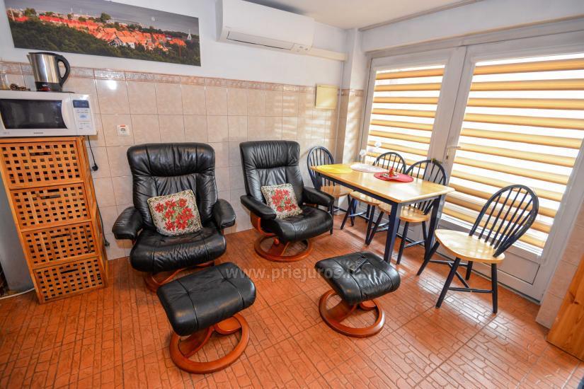 Dwa pokoje mieszkanie w Nidzie: internet, taras, bezpłatny parking - 3