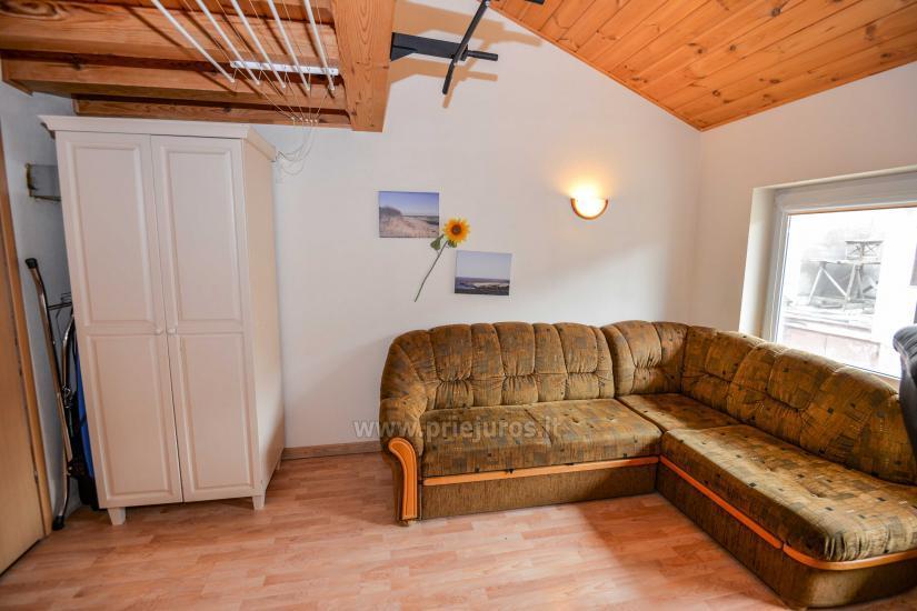 Dwa pokoje mieszkanie w Nidzie: internet, taras, bezpłatny parking - 10