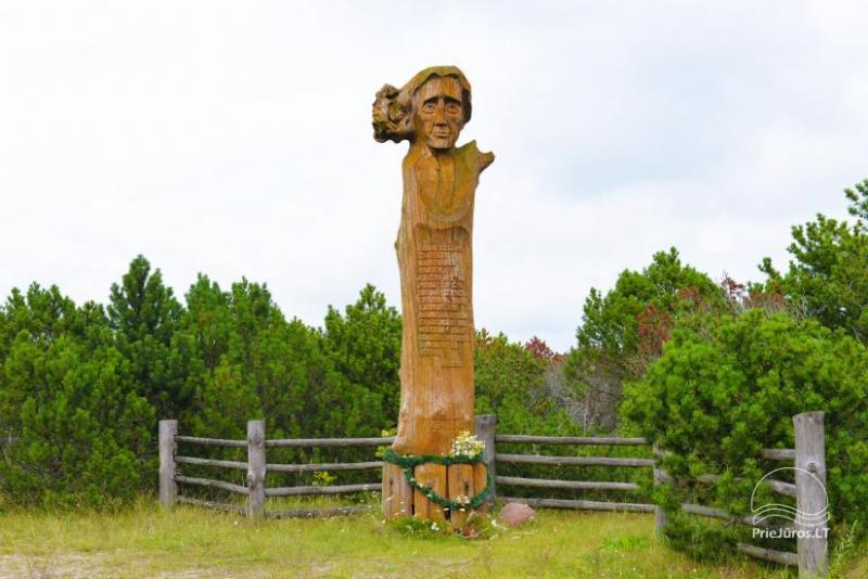 Pomnik Liudvikas Reza w pobliżu Pervalki